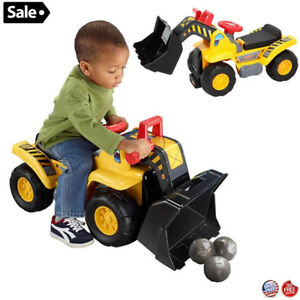 Kids Ride On 4 Wheels Construction Truck Hauler Toy For Boys Toddler Xmas Gift