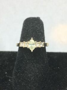 .75 tcw Marquise Diamond Engagement Ring 14k Yellow Gold