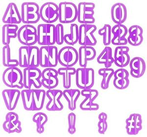 DaZone Alphabet Cutters Letter Cakes And Pastries Letter Cutters Fondant Set -
