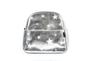 Mother Baby Diaper Bag PU Leather Maternity Silver White Stars Newborn Backpack