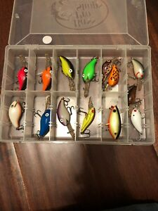 (14) Rebel Bomber Wee R Square Bill crankbaits Lot of 14 fishing lures