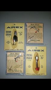 4 Airex Lures - New On Card - Div of Lionel Corp