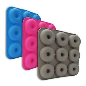 Donut Pan 9 Cavity Silicone Donut Baking Pan Non-stick Donut Mold Durable Easy