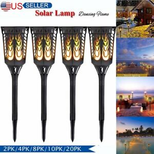 10 20 Pack 96 LED Waterproof  Flame Solar Torch Light Garden Lamp Outdoor MY