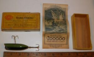1920 Anitique Wood Lure South Bend Babe Oreno 972 w Box & Paperwork NEVER USED