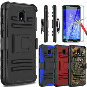 For Samsung Galaxy J7 CrownRefineStar Stand Clip Case With Screen Protector