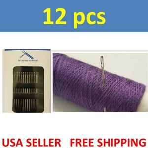 12PCs Thick Big Eye Sewing Self Threading Needles Embroidery Hand Sewing side $2.69