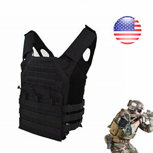 Tactical Vest Military Adjustable Breathable Molle Police Assault Combat Plate