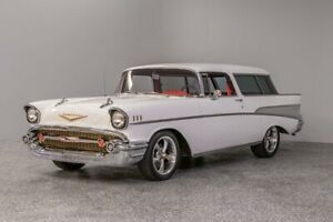 1957 Nomad -- 1957 Chevrolet Nomad  4060 Miles Ford Performance White Station Wagon 350 Crate