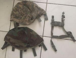 ACH MICH Chin Strap with Helmet Cover Reversible Woodland DCU UCP IR TABS LXL
