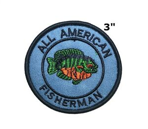 FISHING FRESHWATER FISH Iron On Embroidered Applique Patch Fishing Sports