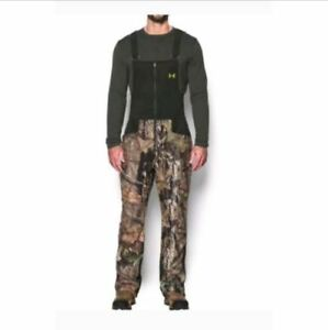 NWT Under Armour Mens Hunting Bib Camo Stealth Mossy Oak Small 1291442-278 $170