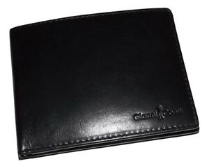 NEW GIANNI CONTI MEN'S ITALIAN LEATHER BIFOLD 8 POCKET CREDIT CARD WALLET BLACK