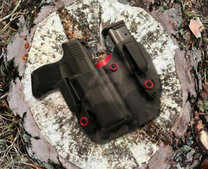 Fits S&W Shield 940 IWB Kydex Concealment Gun Mag Holster Combo MULTI CAM & RED