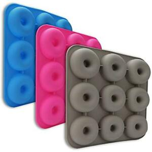 Donut Pan 9 Cavity Silicone Baking Non-stick Mold Durable Kitchen Accessories