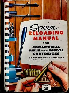 Speer Reloading Manual Volume 3 1959 Mint Condition