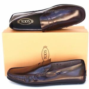TOD'S Tods New sz UK 12  - US 13 Auth Designer Mens Drivers Loafers Shoes bordo