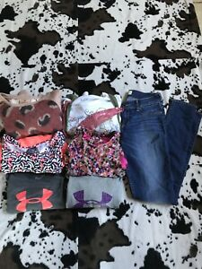 Lot of 7 Pieces Girls Clothing SZ L Under Armor, Abercrombie, Justice $60.00