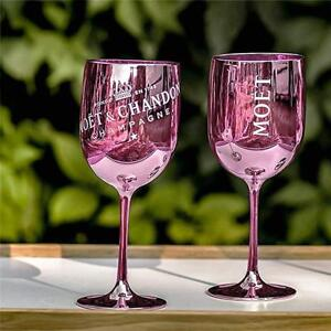 Moet and Chandon Pink Ice Imperial Plastic Champagne Glasses