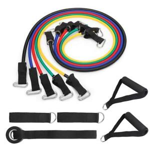 Resistance Bands Set Fitness Workout Loop Power Gym Exercise Streng Training
