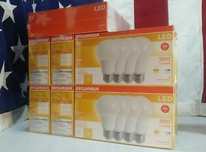dimmable LED 60W Equiv SOFT WHITE / BRIGHT WHITE / DAYLIGHT SYLVANIA Light Bulbs