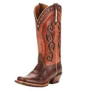 Ariat 10025053 Women Cowtown Cutter Crossfire Cocoa Posse Pink Western Boot