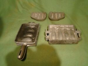 3 SETS LARGE LEAD SINKER MOLDS C. Palmer BANK104 PENN SPORT EARLY DIAMOND SHAPE