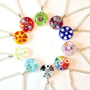 10 Hand-Made Murano Glass Millefiori Pendant Necklaces. WholesaleBulk Buy