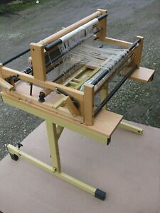 Vintage Large Swedish weaving loom with table