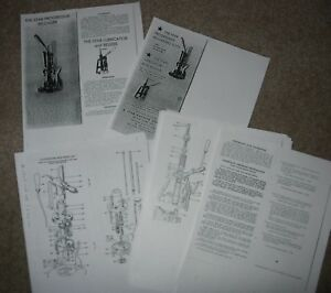 STAR MACHINE PROGRESSIVE RELOADING PRESS USER MANUAL AND PARTS LIST - COPY ONLY