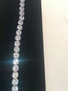 10Ct Diamond Tennis Bracelet 7.25