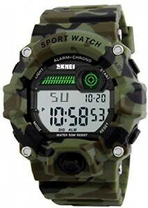 Boys Camouflage LED Sport WatchWaterproof Digital Electronic Casual Military