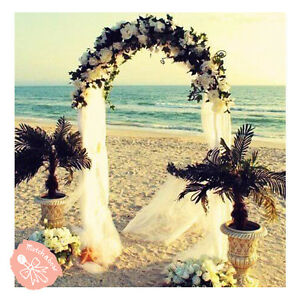 7.5 Feet White Metal Arch for Wedding Party Decoration Free Fast Shipping $22.75