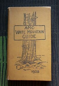 A M C WHITE MOUNTAIN GUIDE 1928 & 2 Color LOUIS CUTTER  MAPS 1930 SUPPLEMENT