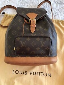 Auth Louis Vuitton Monogram Montsouris MM Backpack Rucksack Bag Pre-Owned M51136