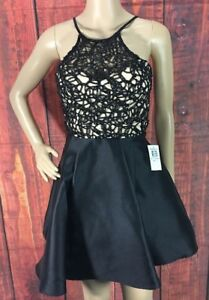 B.Darlin FormalHomecoming Cocktail Short  Dress Size 0 Color Black New With Tag