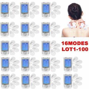 (LOT 1-100PCS) 16 Mode TENS Unit FDA Cleared Electric Pulse Massager Therapy UR