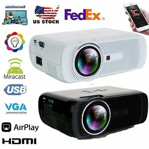 7000 Lumens 3D Home Cinema Theater LED Projector 1080P FHD HDMI AV USB VGA MY