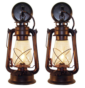 2 Wall Mounted Lantern wall Sconce Large Rustic Muskoka Lifestyle Products USA