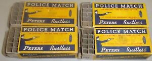 Four Early Police Match Peters Rustless .38 Special EMPTY Hunting Ammo Boxes