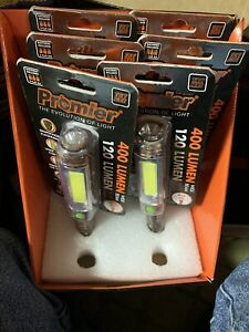 Lot of 8 - Promier 400 Lumen COB LED Jumbo Task Light Flashlights CAMO w Magnet