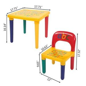 Kids Table And Chair Set Furniture Play Table Activity Children Toddler Playroom