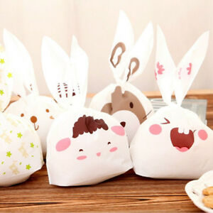 50pcs Cute Rabbit Candy Box Wraps Gift Biscuits Boxes Snack Bags Wedding Favors