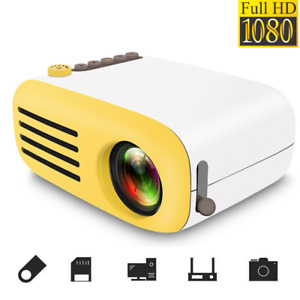 Full HD 1080P Mini Projector LED Multimedia Home Theater USB HDMI TV AV TF