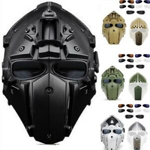Full Head Guard Mask Goggle Helmet For Tactical Airsoft Paintball Racing Wargame
