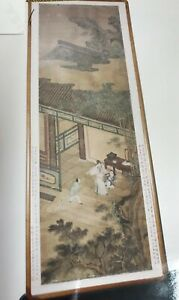 Ancient Chinese hand draw painting on silk