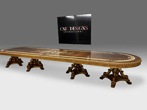 World class magnificent Louis XVI style dining table set range 8ft to 20ft plus