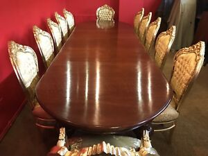 BEAUTIFUL 12.ft ANTIQUE WILLIAM IV BRAZILIAN MAHOGANY TABLE PRO FRENCH POLISHED