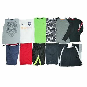 11 PC BOYS LOT SZ 10-12 NAMEBRAND SCHOOL OUTFITS SHORTS SHIRTS ATHLETIC DRI-FIT