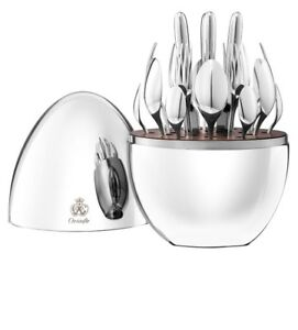 Silver-Plated 24-Piece Flatware SetMOOD BY CHRISTOFLE Egg Brand New In Box